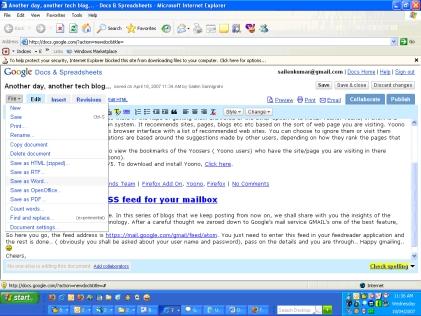 Google Office First