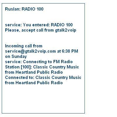 Gtalk radio