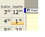2 TimeZone in Outlook