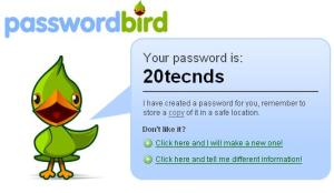 Generated Password using Passwordbird