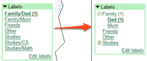 Create folders from Gmail Labels