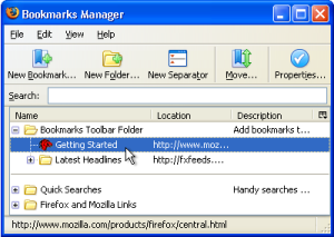 Firefox-Bookmarks Manager