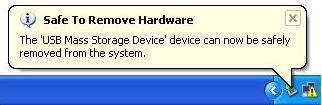 Windows Safely Remove Hardware display notification