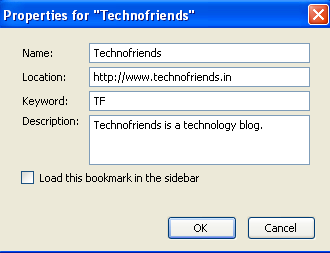 Open Bookmarks using Keyword in Firefox