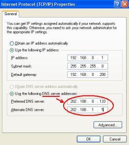 Name Servers through IPCONFIG