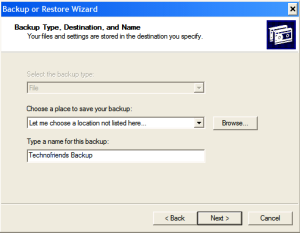 Automating Windows Backup-Step3