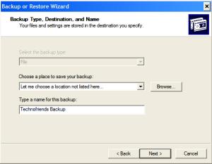 Automating Windows Backup-Step3