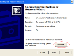 Automating Windows Backup-Step 4