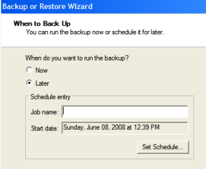 Automating Windows Backup - Step6