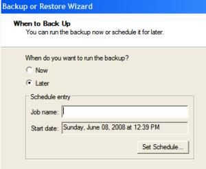 Automating Windows Backup - Step6