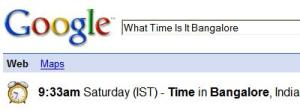 Using google to get the local time of the place