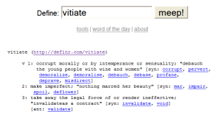 Definr-definition for vitiate