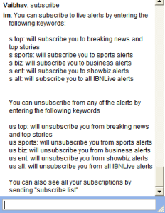 Subscribing to ibnalerts.