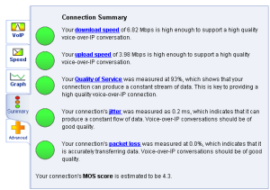 Voiptest summary page