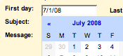 Vacation Dates on Gmail Labs