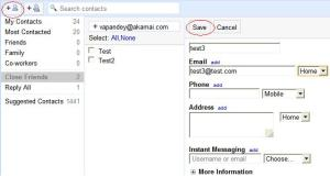 Add contacts to the mail group