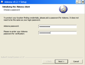 Adeona Installation password will be used to retrieve details.