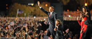 Obama elected as the next US President.