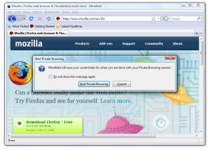 Start Browsing Privately in Firefox