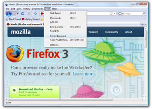 Private Browsing in Firefox 3.1